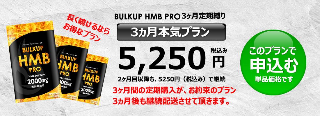 バルクアップHMBプロの料金3